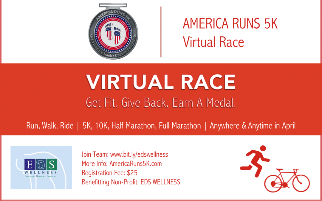 Help Us Continue to Launch and Grow EDS Wellness! Join Team EDS Wellness in the #AmericaRuns5k Today!
