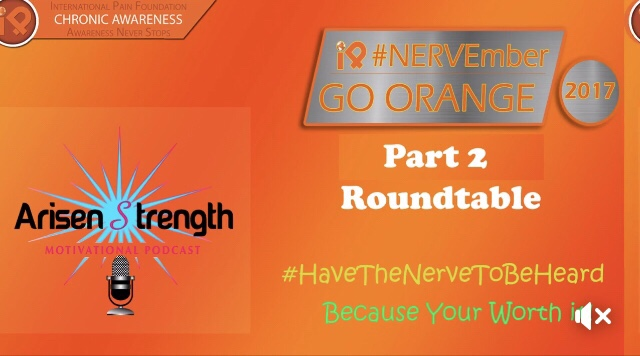Arisen Strength Motivational Podcast for iPain's #NERVEmber Awareness Month
