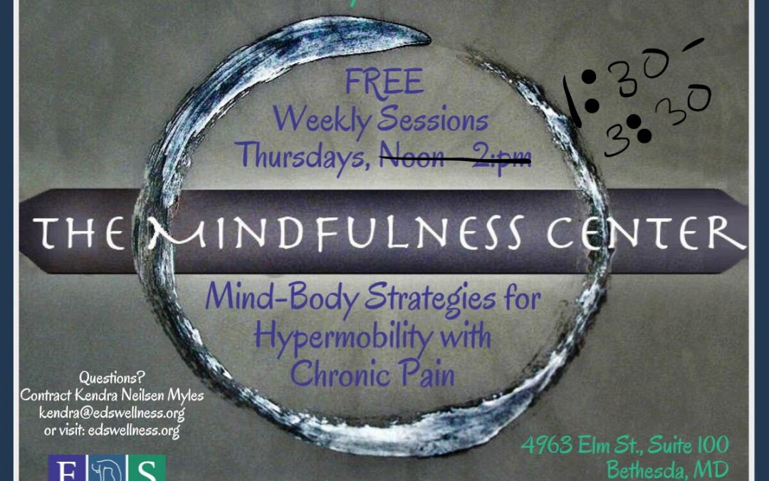 Follow-up From Our 4th Mind-Body Strategies for Hypermobility and Chronic Pain Class – Post-Class Information and Resources