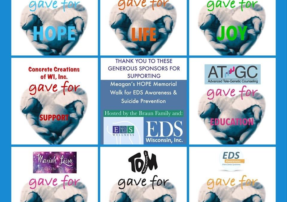 Meagan's HOPE Memorial Walk – Ehlers Danlos Syndromes Awareness and Suicide Prevention with EDS Wisconsin and EDS Wellness