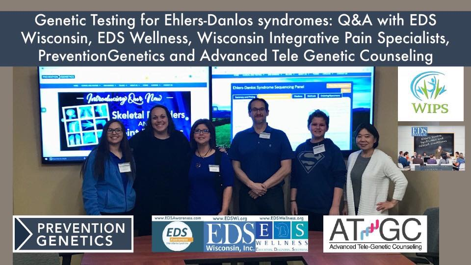 Genetic Testing for EDS: Online Q&A with Prevention Genetics, EDS Wisconsin & EDS Wellness – Friday, May 25th, 2018!