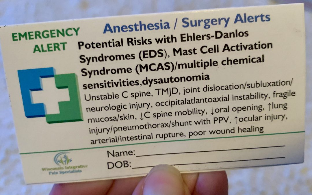 Anesthesia & Surgery Alerts for Ehlers-Danlos syndromes (EDS) and Related Disorders – Linda Bluestein, M.D.